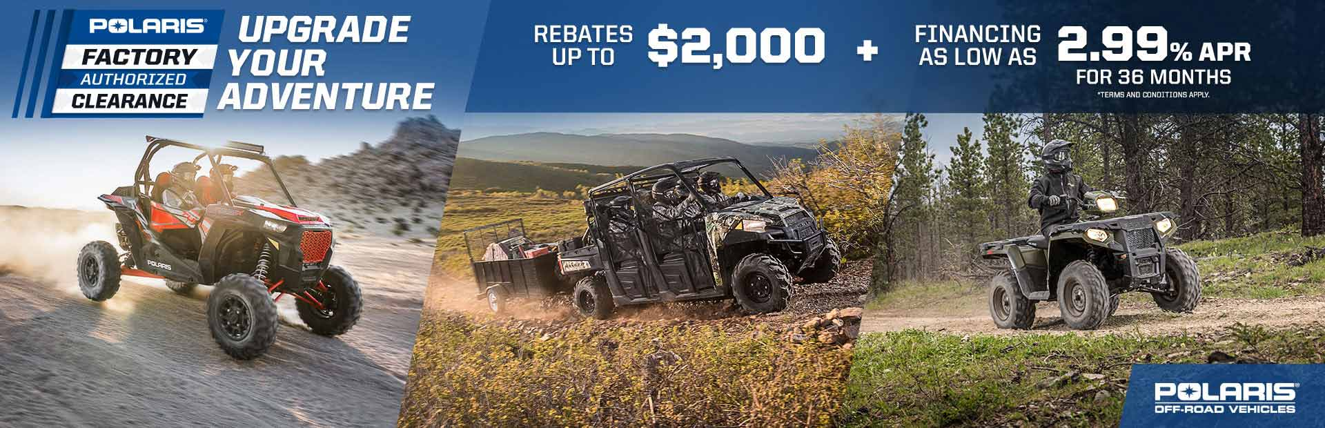 Polaris Industries: Polaris Factory Authorized Clearance Sales Event